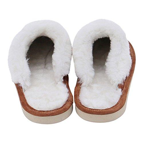 Zapatillas cordero de casa Zapatillas Zapatillas castaño Mujer de MALIBU Piel wB4gqZ