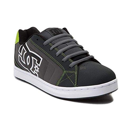 Dc Suregrip Mens Net Sg Black Green Slip Resistant Work Shoes 8 5M