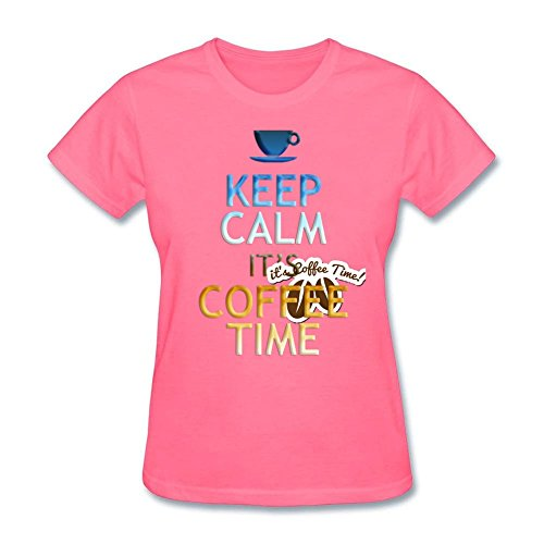 design-tee-womens-keep-calm-its-coffee-time-natural-cotton-tee-tops-pink-xl
