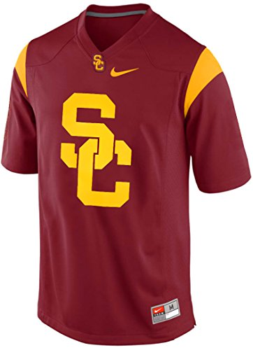 Nike USC Trojans College Team Logo Fight On Football Fashion Jersey Men's Shirt (Varsity Crimson Red, (Usc Football Jersey)