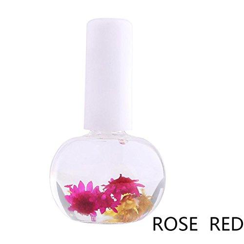 (Nail Nutrition Oil for Women, Iuhan Mix Taste Dried Flowers Cuticle Oil Pen Nail Art Care Treatment Manicure Set (E))