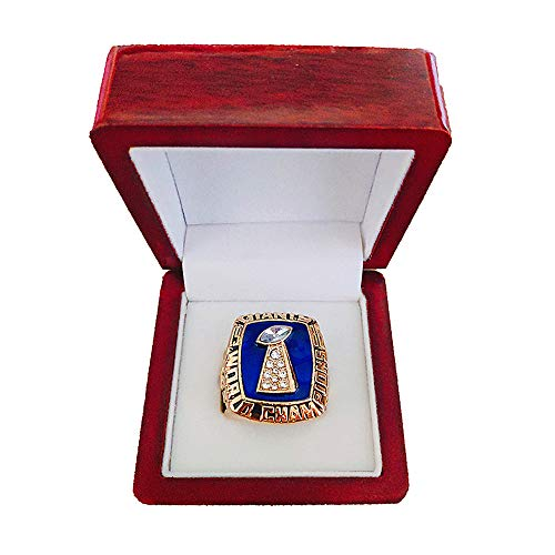 - Gloral HIF New York Giants Championship Ring Super Bowl 1986 Ring Replica Lawrence Taylor with Display Wooden Box
