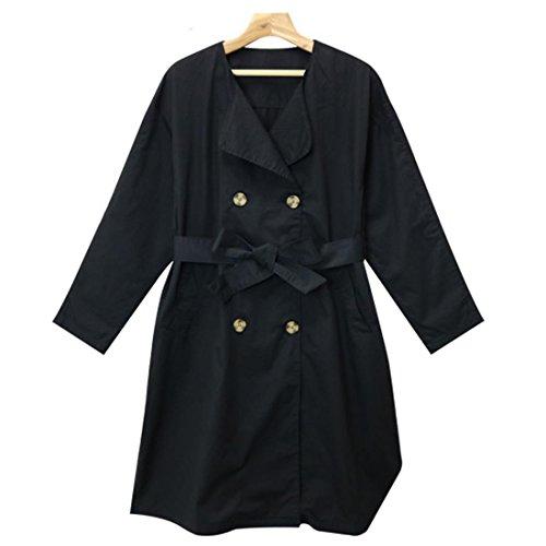 SHEIL トレンチコート レディース 春コート ジャケット ロング丈 ノーカラー 大きいサイズ ドロップショルダー 大きいサイズ ロングトレンチ 薄手