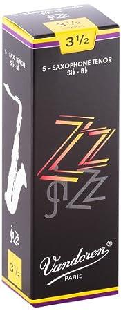 Vandoren ZZ Tenor Saxophone Reeds #3.5, Box of 5 SR4235