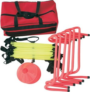 Cintz Soccer Speed Training Kits Speed Ladder, Speed Hurdles, Field Marker Cones, Speed Chute and free bag bag (Soccer Training Kit, Economy Pack)