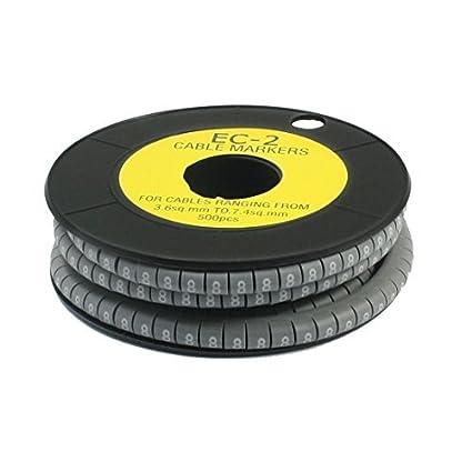 Amazon.com: eDealMax CE-2 gris PVC Flexible Carta 8 Patrón Marcador ...