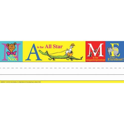 (Eureka Back to School Dr. Seuss ABC Classroom Student Name Plates for Teachers, 36pc, 9.62 '' W X 6.5'' H)
