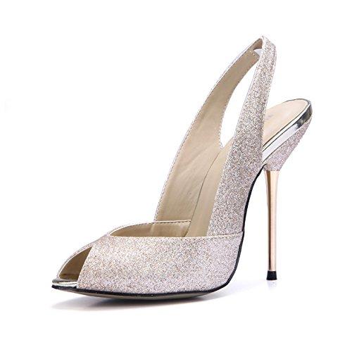 luz zapatos arena pescado Golden vacía Light dorada con hierro de bodas de puerto con boca Sandalias fueron femenino el que cena muelle ZHZNVX nuevo y de lattice q10ZRwfx