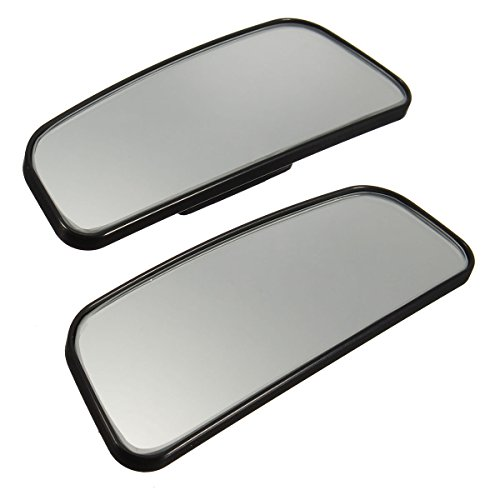 Audew 2 Pack Square Blind Spot Mirror 360℃ Abs Glass For