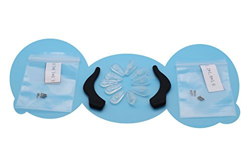 Cothyen Anti-slip Air Soft Comfortable Silicone Eyeglass Nose Pads And Holder for Glasses, Ear Hook, Eyeglass Temple Tip - Nose Glasses Piece