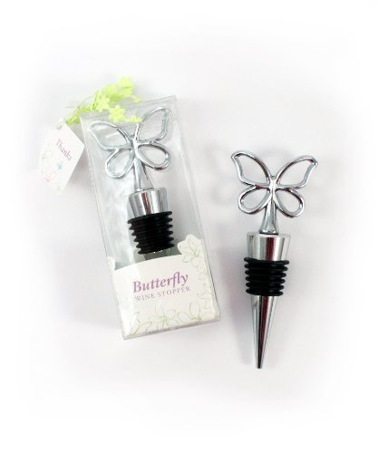 (Weddingstar Butterfly Wine Stopper in Gift Packaging)