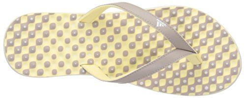 adidas Performance Eezay Dots Sportliche Zehentrenner Sandale - Damen Vapor Grey White / Leichtes Gelb S