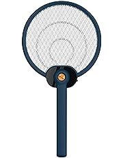 zhipomelo Elektrisk flugsmälla insektsdödare USB-laddningsbar myggracket flugfångare racket med ultra-ljus LED/1200 mA kapacitet/en månads användningstid/3-lagers skyddsnät för inomhus och utomhus