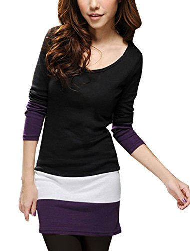 allegra-k-women-scoop-neck-long-sleeve-colorblock-slim-fit-tunic-shirt-s-black