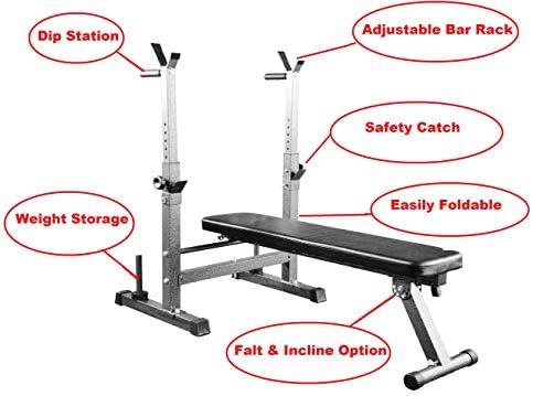 Banco De Pesas Plegable Ajustable Gimnasio Fitness Bench ...