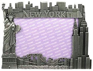 New York Picture Frame -Pewter Lrg, New York Picture Frames, New York -