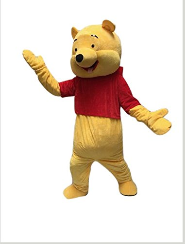 Winnie the Pooh Cartoon Cosplay Character Mascot Costume Adult Size