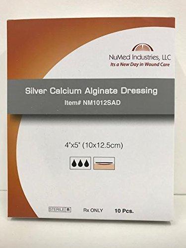 NuMed Silver Alginate Dressing 4x5 10/box