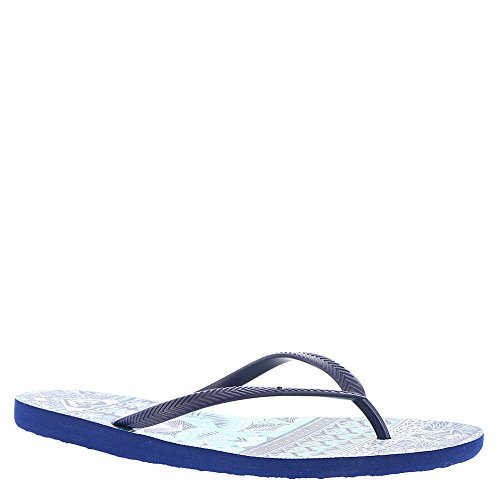 Roxy Women's Bermuda Sandal Flip Flop, Navy/Royal, 8 M - Bermuda Navy Blue