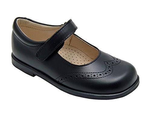 DI ANGELS - Christy Merceditas para NIÑAS EN Piel Color Negro con Velcro. Made IN Spain.: Amazon.es: Zapatos y complementos