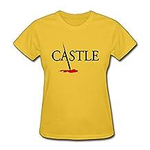 SUAMDAN Women's Castle Tv Show Logo T Shirt