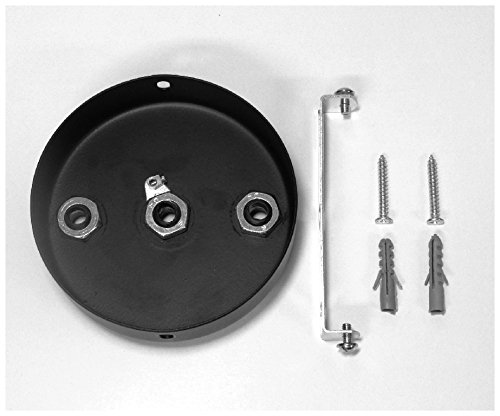 3 POINT MULTI DROP OUTLET CEILING ROSE Midnight Black