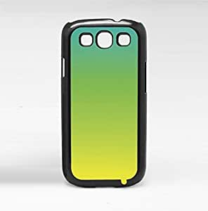 Blue, Green, and Yellow Ombre Gradient Hard Snap on Phone Case (Galaxy s3 III)