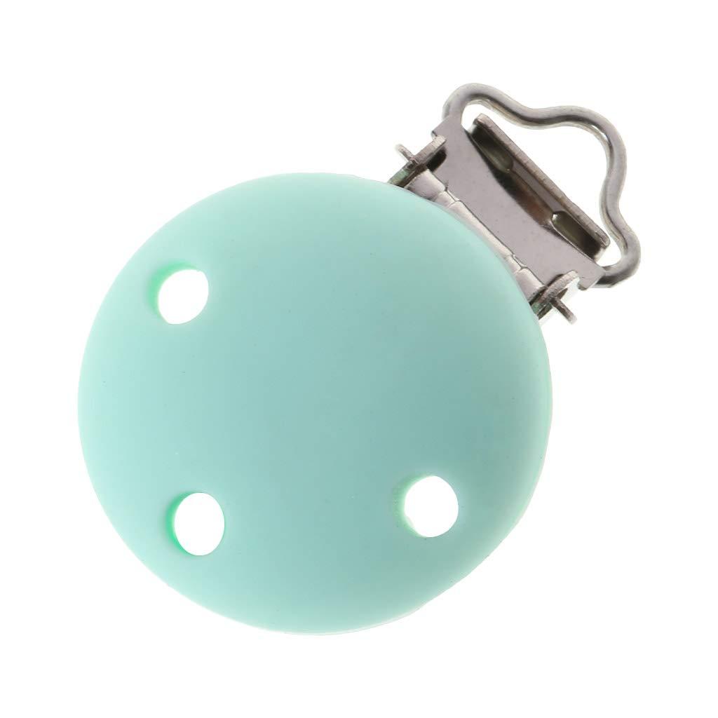 accessori per allattamento fai da te KunmniZ 1 clip per ciuccio in silicone per massaggiagengive e capezzoli rotondi con fibbia morbida per neonati