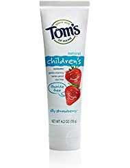 Tom's of Maine Natural Children's Fluoride Free Toothpaste, Silly Strawberry, 4.2 Ounce