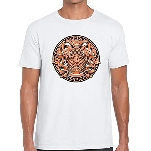 Dapper Outfits Sport T Shirt to Matching Yeezy Boost 350 V2 Clay Medusa White XXX-Large]()