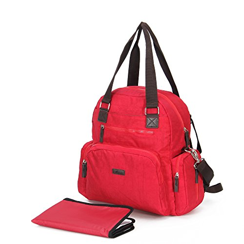 Moonrose Diaper Bag Backpack,Multi-Function Water-Repellent Nappy Bag for Travel with Baby - Large Capacity, Stylish and Durable , Red (Best Luxury Diaper Bag)