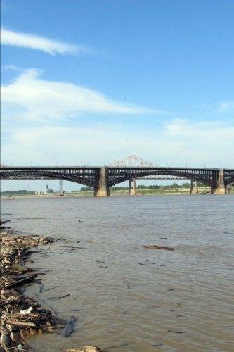 Eads Bridge in St. Louis, Missouri Journal: 150 page lined notebook/diary