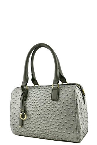 womens-designer-faux-leather-fashionable-ostrich-top-handle-bag-va2014-grey