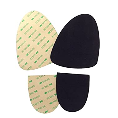 Stick-on suede soles with industrial-strength adhesive backing. Resole old dance shoes or turn sneakers into perfect dance shoes. [SUEDE-M-black-sport-r01]