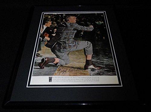 Autographed Ralph Miller (Houston Oilers) Photo - Coach Framed 11x14 Display Wichita Iowa Oregon State