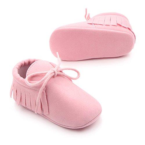Etrack-OnlineMoccasins - botas sin cordones para niño Rosa
