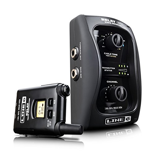 Line 6 Relay G50 | 99-123-0105 12 Channel 2.4 GHz Digital Guitar Wireless System with Pro-Stompbox Receiver (Wireless System Stomp Box)