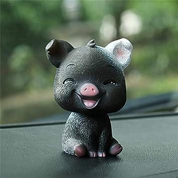 Cute Bobble Head Pig Toy Collectible Bobblehead Figurine Car Interior Decor