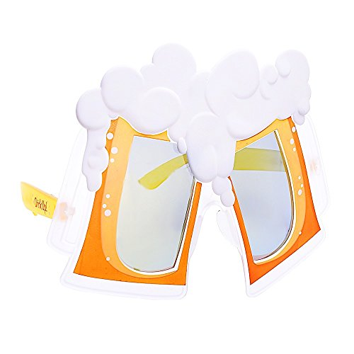 Sun-Staches Costume Sunglasses Beers Cheers Party Favors UV400 -