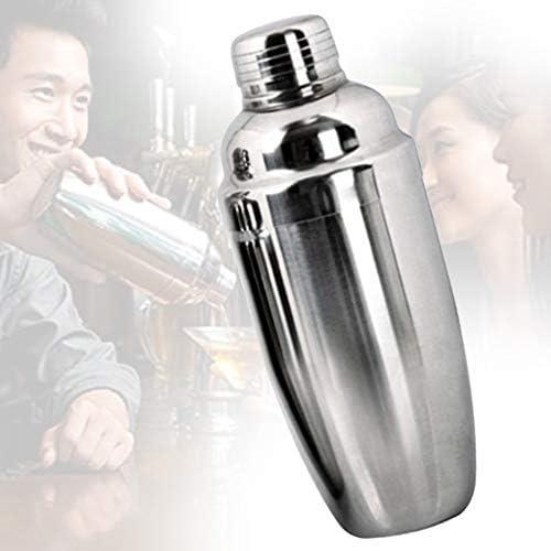 qhtongliuhewu Cocktail-Shaker, 550 ml, Edelstahl, kein Auslaufen, für Wein und Getränke, Barzubehör, Werkzeug Mehrfarbig