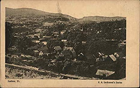 Amazon.com: View of Town and Mountains Ludlow, Vermont ...