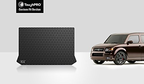 ToughPRO Cargo/Trunk Mat Compatible with Honda Element - All Weather - Heavy Duty - (Made in USA) - Black Rubber - 2007, 2008, 2009, 2010, 2011