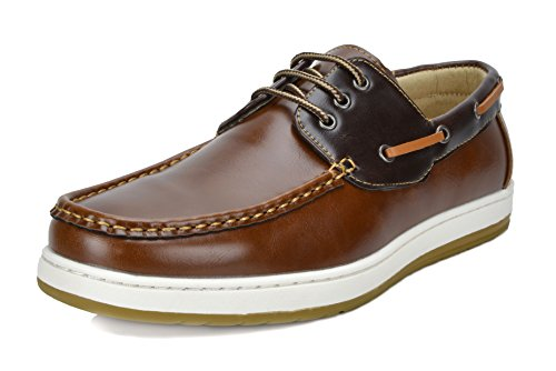 Tan Casual Loafers - Bruno Marc Men's Pitts_12 TAN/BRN Oxfords Moccasins Boat Shoes Size 12