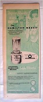 Antigua Hoja Publicidad Revista - Advertising Magazine Old Sheet : LICUADORA HAMILTON BEACH. Año 1959