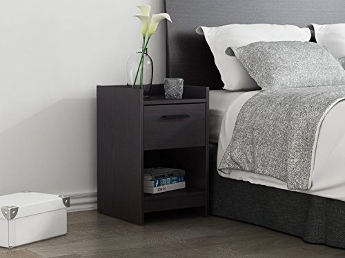 picture of Homestar Central Park 1 Drawer Nightstand, 15.98 x 13