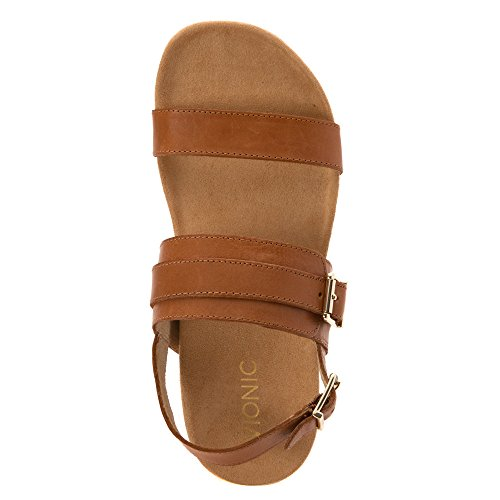 Vionic Womens 342 Samar Leather Sandals Tan