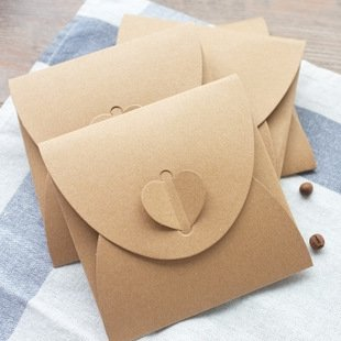 WP-TT 50 Packs Retro Love Blank Kraft CD DVD Paper Sleeves Envelope from