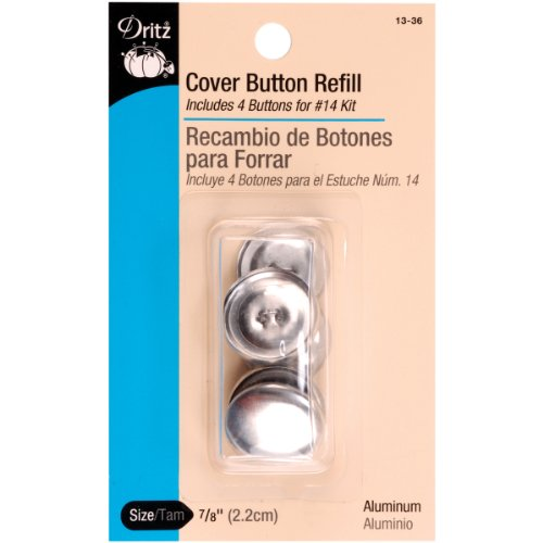 Cover Button Refill (Dritz Cover Button Refill - For #14 Kits - Size 36 - 4 Ct.)