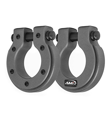 All Sales AMI 8804AM-2 Demon Hook-Round D-Ring Anthracite Metallic