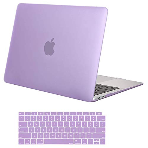 MOSISO MacBook Air 13 inch Case 2019 2018 Release A1932 with Retina Display, Plastic Hard Case Shell & Keyboard Cover Skin Only Compatible Newly MacBook Air 13 with Touch ID, Light Purple (Best Hong Kong Ebay Sellers)
